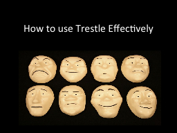 How to use Trestle Effectively