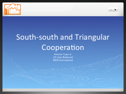 South-south and Triangular Cooperation