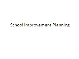 School Improvement Planning
