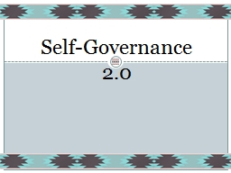 Self-Governance PowerPoint PPT Presentation