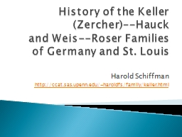 History of the Keller
