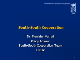 South-South Cooperation PowerPoint PPT Presentation