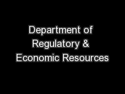 Department of Regulatory & Economic Resources PowerPoint PPT Presentation
