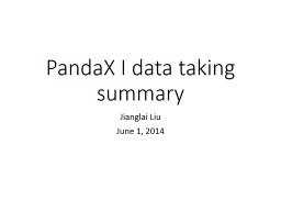 PandaX PowerPoint PPT Presentation