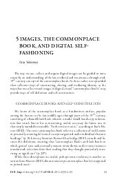 IMAGES THE COMMONPLACE BOOK AND DIGITAL SELF FASHIONING B W The way we use collect and acquire digital images can be guided to some extent by an understanding of the late medieval and renaissancethr
