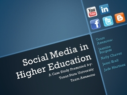 Social Media in Higher Education PowerPoint PPT Presentation