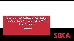 Attachment of Residential Deck Ledger PowerPoint PPT Presentation