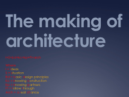 The making of architecture PowerPoint PPT Presentation
