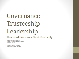 Governance Trusteeship PowerPoint PPT Presentation