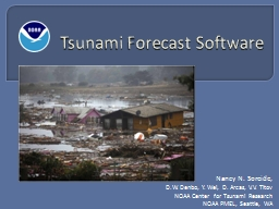 Tsunami Forecast Software