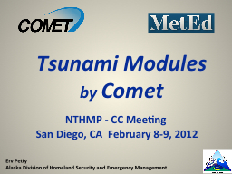 NTHMP - CC Meeting