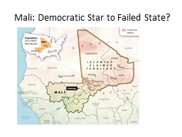 Mali: Democratic Star to Failed State?