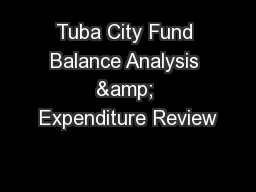 Tuba City Fund Balance Analysis & Expenditure Review PowerPoint PPT Presentation