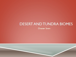 Desert and Tundra Biomes PowerPoint PPT Presentation