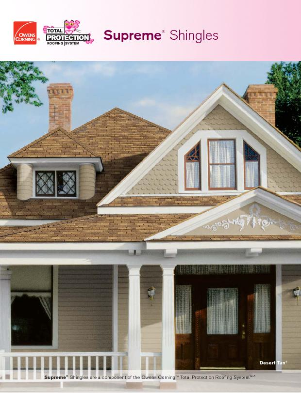 Shingles are a component of the Owens Corning