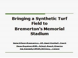 Bringing a Synthetic Turf Field to