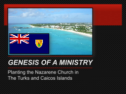 GENESIS OF A MINISTRY