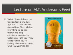 Lecture on M.T. Anderson's