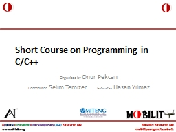 Short Course on Programming in C/C++