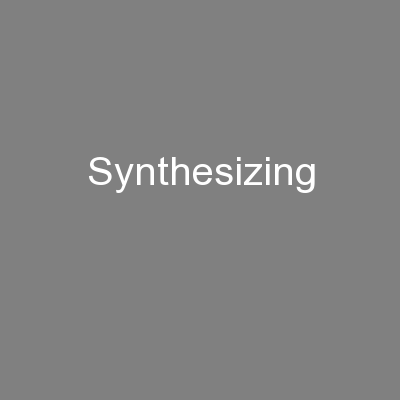Synthesizing PowerPoint PPT Presentation