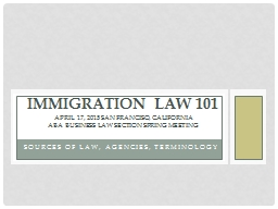 Sources of Law, Agencies, Terminology