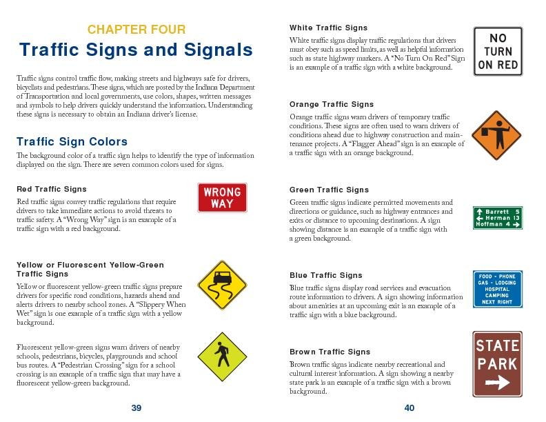 Traf c Signs and Signals