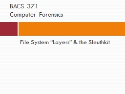 """File System """"Layers"""" & the"""