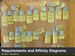 Requirements and Affinity Diagrams