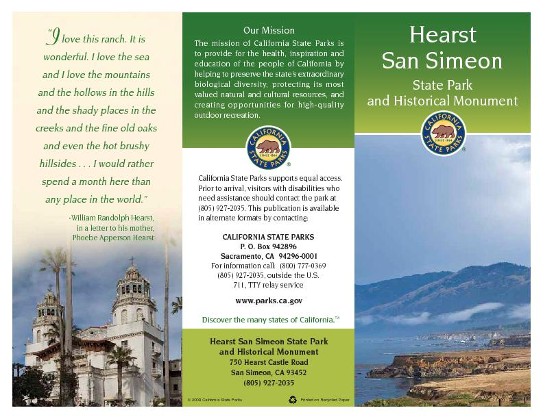 The mission of California State Parks is to provide for the health, in