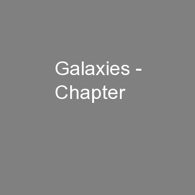 Galaxies - Chapter