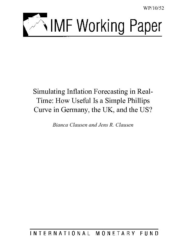 Simulating Inflation Forecasting in Real-Time: How Useful Is a Simple