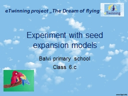 Experiment with seed expansion models