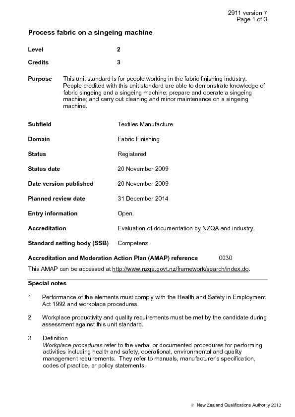 New Zealand Qualifications Authority 2013Level 2  This unit standard i