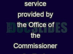 Conciliation This information sheet introduces parties to the conciliation service provided by the Office of the Commissioner for Body Corporate and Community Management the BCCM Office under the Bod
