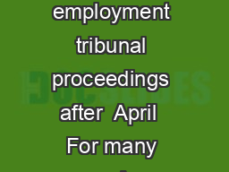 Guidance note Conciliation in cases tha t could be the subject of employment tribunal proceedings after  April  For many years Acas had a statutory duty to provide conciliation in certain circumstanc