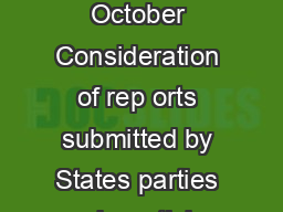 GE Committee on the Rights of the Child Sixty first session  September  October Consideration of rep orts submitted by States parties under article  of the Convention Concluding observations Canada