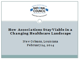 How Associations Stay Viable in a Changing Healthcare Lands