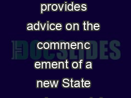 SEPP Repeal of Concurrence and Referral Provisions  This circular provides advice on the commenc ement of a new State environmental planning policy which removes certain State government concurren