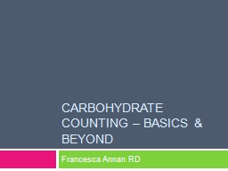 Carbohydrate PowerPoint PPT Presentation