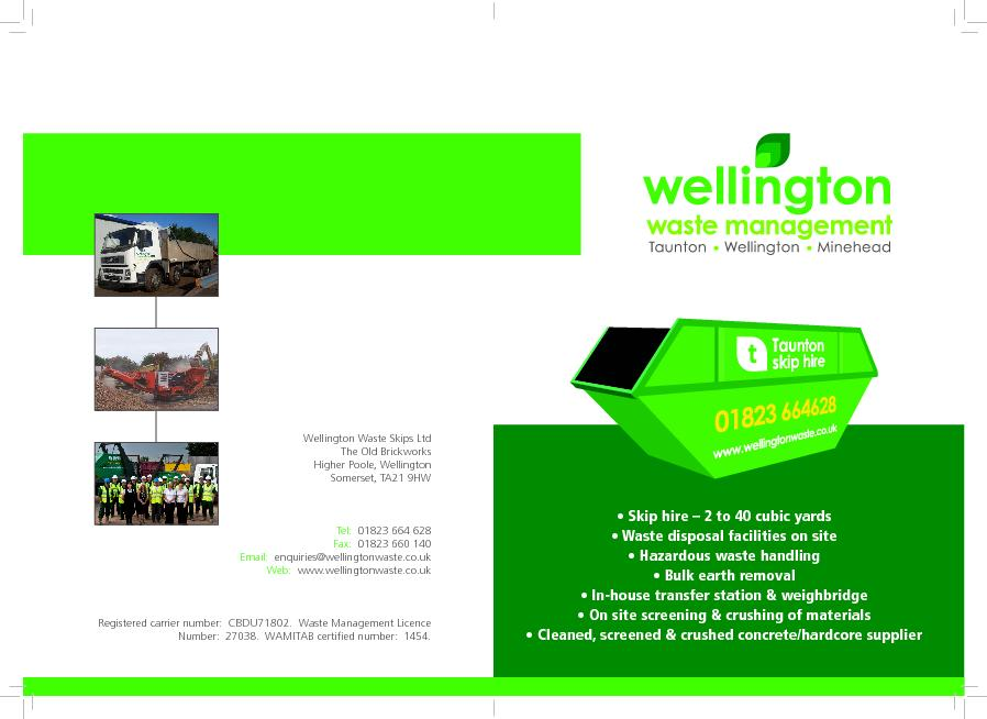 fast, professional skip hire for domestic, trade and commercial custom