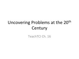 Uncovering Problems at the 20 PowerPoint PPT Presentation