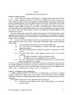 NC General Statutes Chapter A Article  Article
