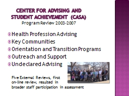 Center for Advising and Student Achievement (CASA)