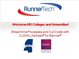 Welcome MS Colleges and Universities!