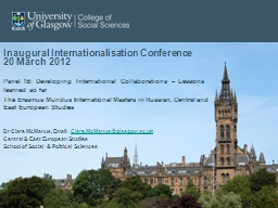 Inaugural Internationalisation Conference
