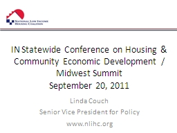 IN Statewide Conference on Housing & Community Economic