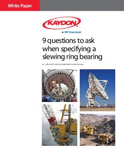 9 questions to ask when specifying a slewing ring bearingLes Miller an