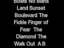Wide Glide The Meadows South Ridge High Street Hollywood Bowls No Mans Land Sunset Boulevard The Fickle Finger of Fear  The Diamond The Walk Out  A B   Towers Ridge Summit Ridge Treble Cone Summit m