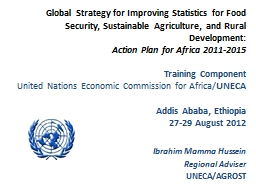 Global Strategy for Improving Statistics for Food Security,