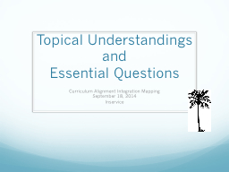 Topical Understandings and